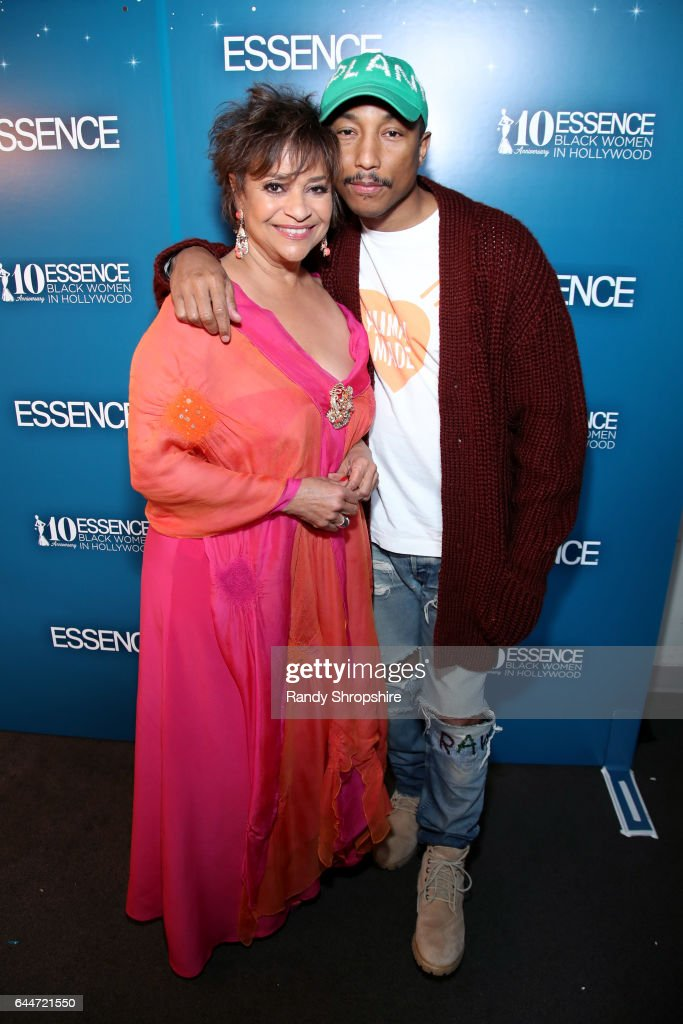 Actor Debbie Allen and Pharrell Williams at Essence Black Women in Hollywood Awards at the Beverly Wilshire Four Seasons Hotel on February 23, 2017 in Beverly Hills, California.
