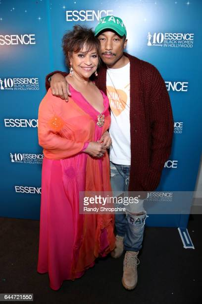 Actor Debbie Allen and Pharrell Williams at Essence Black Women in Hollywood Awards at the Beverly Wilshire Four Seasons Hotel on February 23 2017 in...