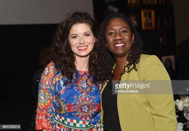 Actor Debra Messing and President DirectorCounsel NAACP Legal Defense Fund Sherrilyn Ifill attend The 2017 MAKERS Conference Day 2 at Terranea Resort...