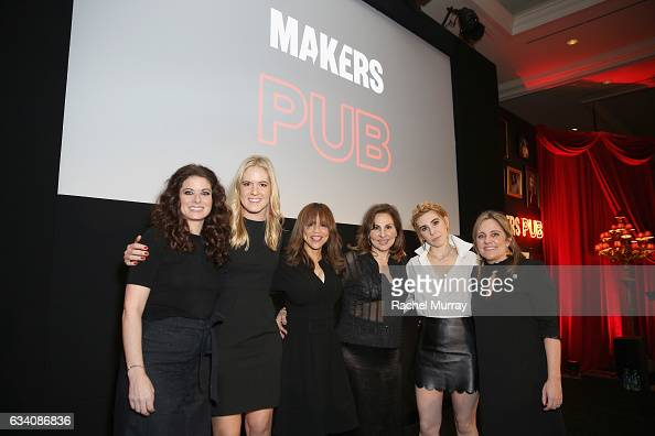 Actor Debra Messing Vice President Creative Director at AOL Samantha Leibovitz DeChiaro actors Rosie Perez Kathy Najimy Zosia Mamet and Founder and...