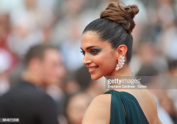 Actor Deepika Padukone attends the 'Loveless ' premiere during the 70th annual Cannes Film Festival at Palais des Festivals on May 18 2017 in Cannes...