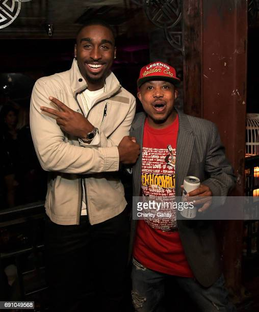 Actor Demetrius Shipp Jr and musician Money B attend Flaunt And David LaChapelle Celebrate The Cadence Issue Featuring Tupac Shakur On The Cover on...