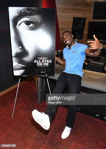 Actor Demetrius Shipp Jr attend 'All Eyez On Me' QA at Means Street Studios on June 8 2017 in Atlanta Georgia