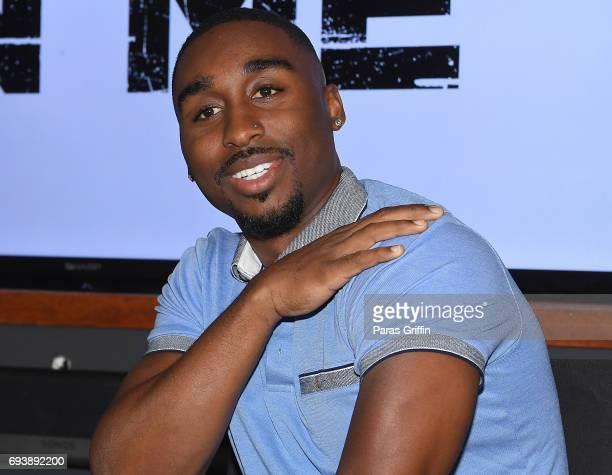 Actor Demetrius Shipp Jr attends 'All Eyez On Me' QA at Means Street Studios on June 8 2017 in Atlanta Georgia
