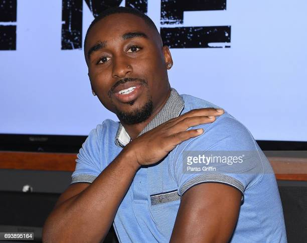 Actor Demetrius Shipp Jr attends 'All Eyez On Me' QA at Means Street Studios on June 8 2017 in Atlanta Georgia
