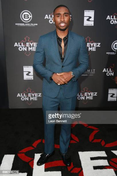 Actor Demetrius Shipp Jr attends the premiere of Lionsgate's 'All Eyez On Me' at the Westwood Village Theatres on June 14 2017 in Los Angeles...