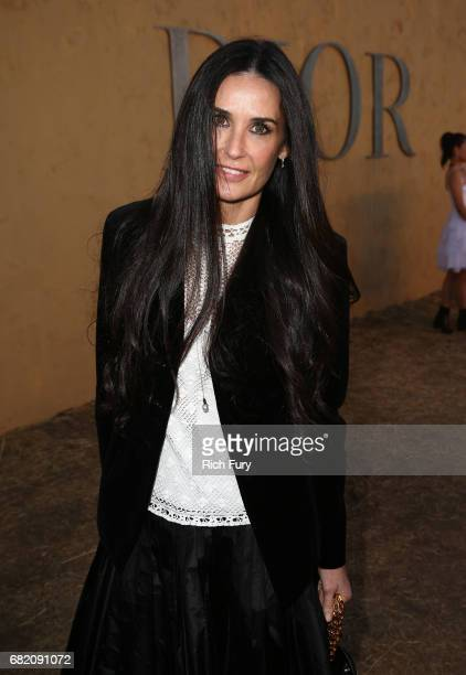 Actor Demi Moore attends the Christian Dior Cruise 2018 Runway Show at the Upper Las Virgenes Canyon Open Space Preserve on May 11 2017 in Santa...