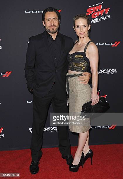 Actor Demian Bichir and Stefanie Sherk arrive at the Los Angeles premiere of 'Sin City A Dame To Kill For' at TCL Chinese Theatre on August 19 2014...