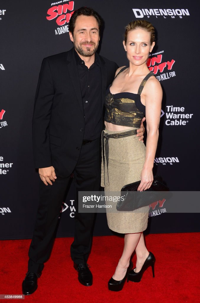 Actor Demian Bichir and Stefanie Sherk attends Premiere of Dimension Films' 'Sin City: A Dame To Kill For' at TCL Chinese Theatre on August 19, 2014 in Hollywood, California.