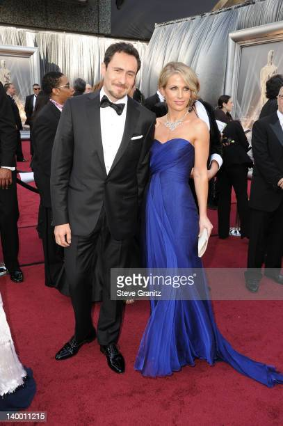 Actor Demian Bichir and wife Stefanie Sherk arrive at the 84th Annual Academy Awards held at the Hollywood Highland Center on February 26 2012 in...