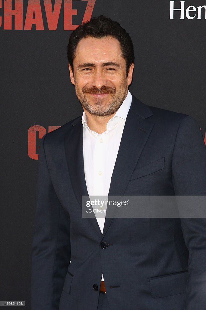 Actor <a gi-track='captionPersonalityLinkClicked' href=/galleries/search?phrase=Demian+Bichir&family=editorial&specificpeople=604427 ng-click='$event.stopPropagation()'>Demian Bichir</a> attends 'Cesar Chavez' Los Angeles Premiere at TCL Chinese Theatre on March 20, 2014 in Hollywood, California.