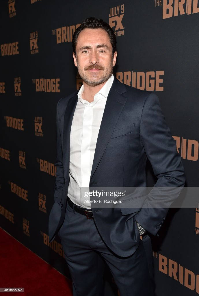 Actor <a gi-track='captionPersonalityLinkClicked' href=/galleries/search?phrase=Demian+Bichir&family=editorial&specificpeople=604427 ng-click='$event.stopPropagation()'>Demian Bichir</a> attends the premiere of FX's 'The Bridge' at Pacific Design Center on July 7, 2014 in West Hollywood, California.