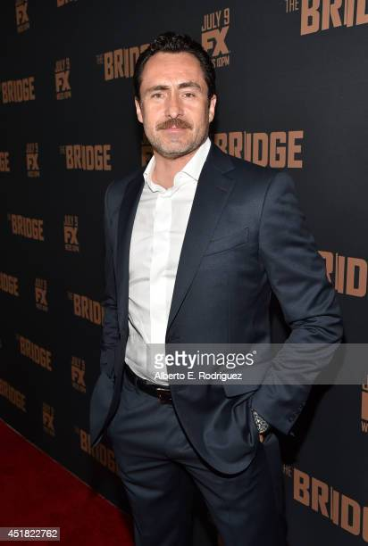 Actor Demian Bichir attends the premiere of FX's 'The Bridge' at Pacific Design Center on July 7 2014 in West Hollywood California