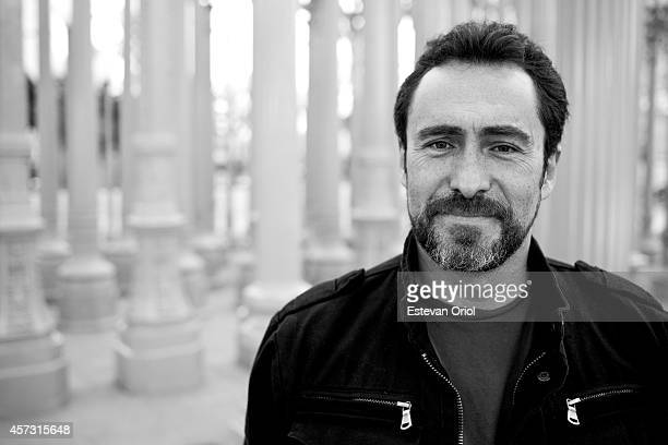 Actor Demian Bichir poses for a Huffington Post Editorial shoot at LACMA Los Angeles California 2012