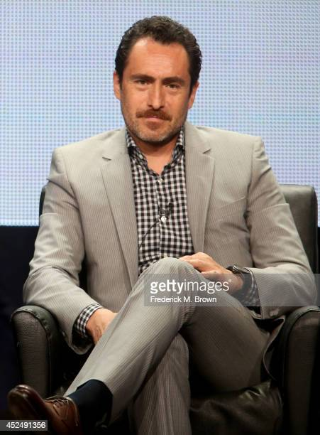 Actor Demian Bichir speaks onstage at 'The Bridge' panel during the FX Networks portion of the 2014 Summer Television Critics Association at The...