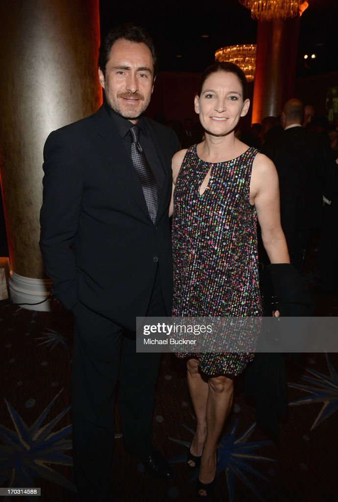 Actor Demián Bichir and Meredith Stiehm attend Broadcast Television Journalists Association's third annual Critics' Choice Television Awards at The Beverly Hilton Hotel on June 10, 2013 in Los Angeles, California.