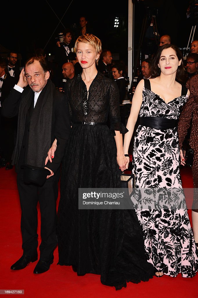 Actor Denis Lavant, actresses Delphine Chuillot and Amira Casar attend the Premiere of 'Michael Kohlhaas' at The 66th Annual Cannes Film Festival at Palais des Festivals on May 24, 2013 in Cannes, France.
