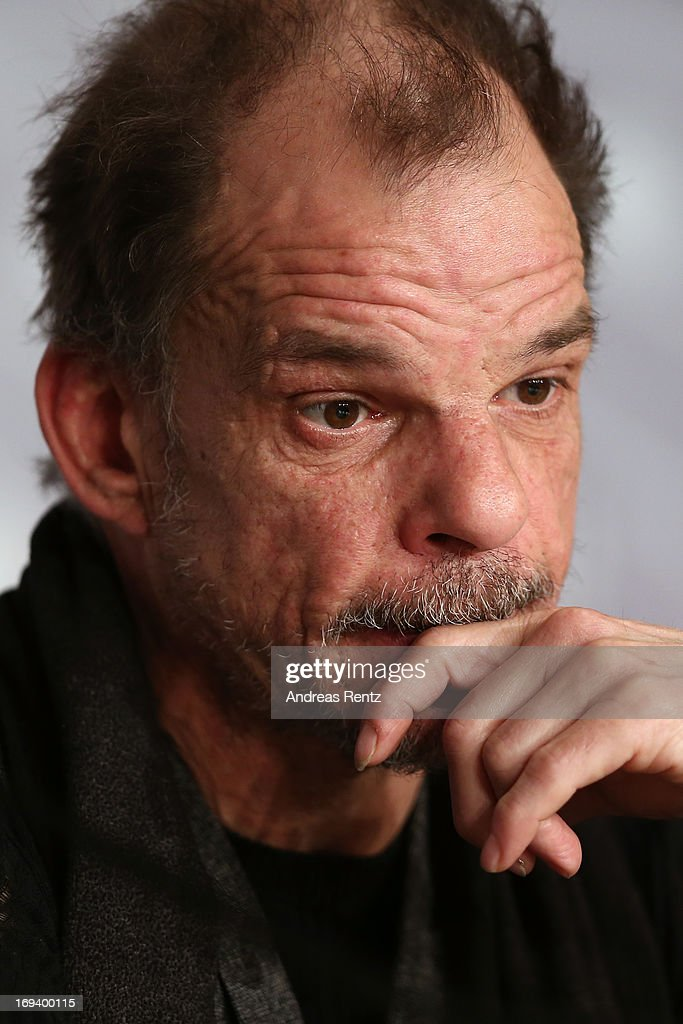 Actor Denis Lavant attends the press conference for 'Michael Kohlhaas' during The 66th Annual Cannes Film Festival at Palais des Festivals on May 24, 2013 in Cannes, France.