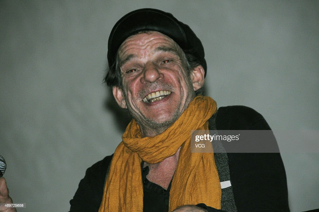 Actor <a gi-track='captionPersonalityLinkClicked' href=/galleries/search?phrase=Denis+Lavant&family=editorial&specificpeople=2992486 ng-click='$event.stopPropagation()'>Denis Lavant</a> of France attends the the 25th anniversary of screening activity of movie 'Les Amants du Pont-Neuf' during the upcoming 5th Beijing International Film Festival on April 14, 2015 in Beijing, China.