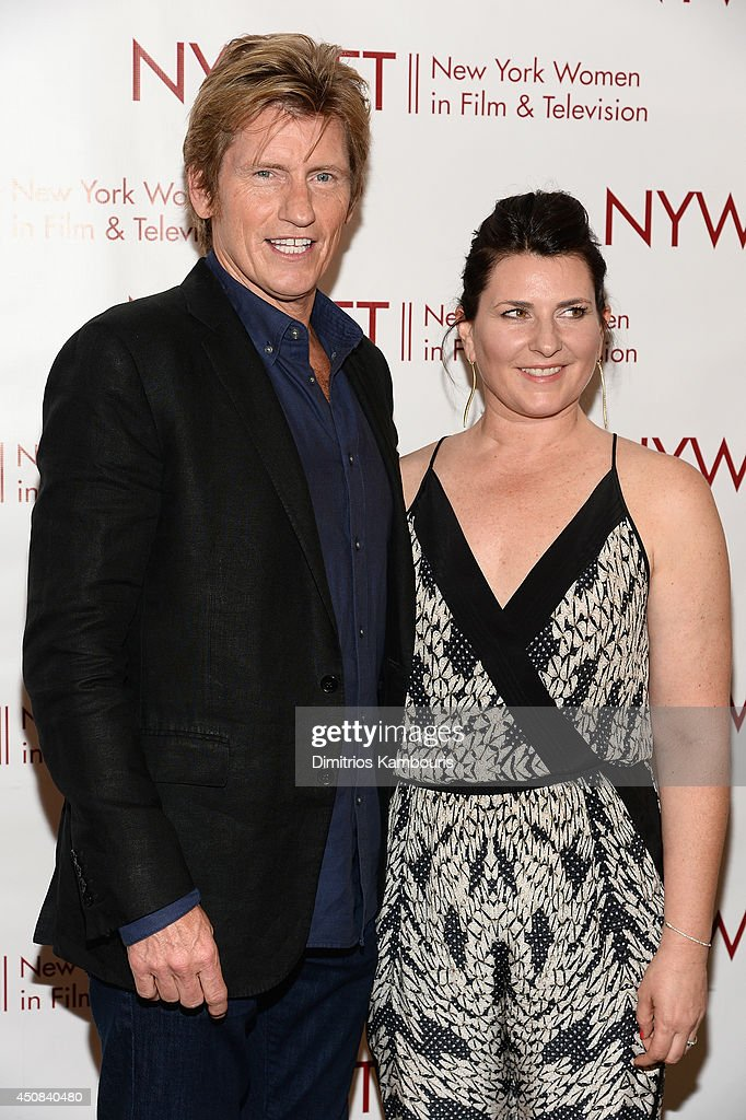 Actor <a gi-track='captionPersonalityLinkClicked' href=/galleries/search?phrase=Denis+Leary&family=editorial&specificpeople=204773 ng-click='$event.stopPropagation()'>Denis Leary</a> (L) and hairstylist Kerrie Smith attend the 2014 New York Women In Film And Television 'Designing Women' Awards Gala at McGraw Hill Building on June 18, 2014 in New York City.