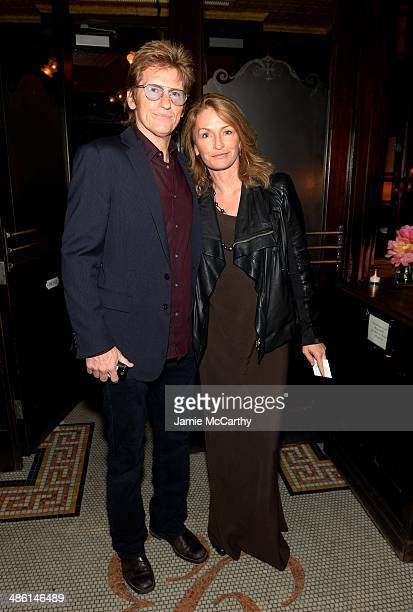 Actor Denis Leary and screenwriter Ann Lembeck attend the Chanel Tribeca Film Festival Artist Dinner during the 2014 Tribeca Film Festival at...