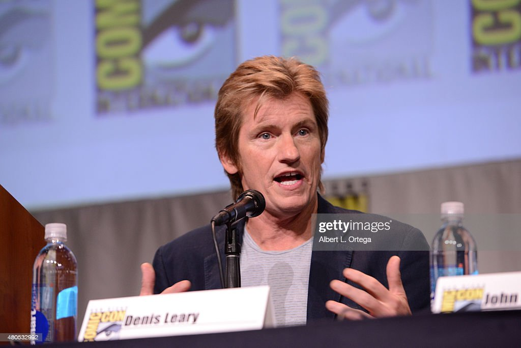 Actor Denis Leary speaks onstage at the FX TV Block featuring 'Sex&Drugs&Rock&Roll,' 'The Strain,' and a sneak peek of 'The Bastard Executioner' panel during Comic-Con International 2015 at the San Diego Convention Center on July 12, 2015 in San Diego, California.