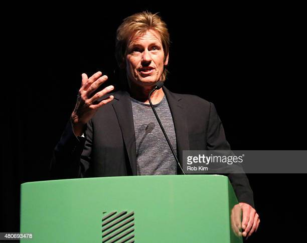 Actor Denis Leary speaks onstage at the New York Series Premiere of 'SexDrugsRockRoll' at the SVA Theater on July 14 2015 in New York City