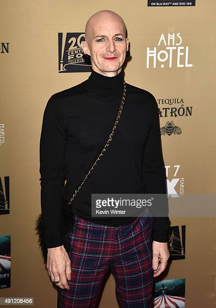 Actor Denis O'Hare attends the premiere screening of FX's 'American Horror Story Hotel' at Regal Cinemas LA Live on October 3 2015 in Los Angeles...