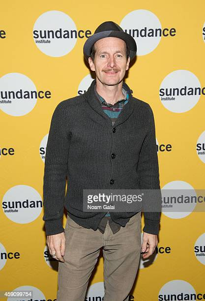 Actor Denis O'Hare attends the preview screening of 'The Illiad' hosted by Sundance Institute's Theatre Program at Elinor Bunin Munroe Film Center on...
