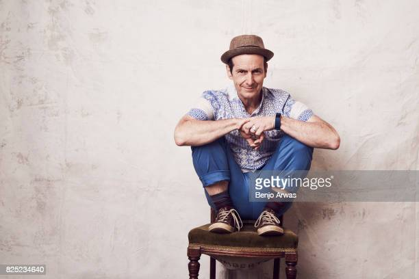 Actor Denis O'Hare of PBS's 'Edgar Allan Poe Buried Alive' poses for a portrait during the 2017 Summer Television Critics Association Press Tour at...