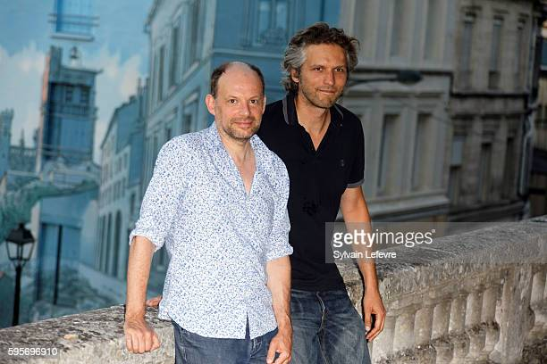Actor Denis Podalydes and director Thomas Kruithof attend 9th Angouleme FrenchSpeaking Film Festival on August 25 2016 in Angouleme France