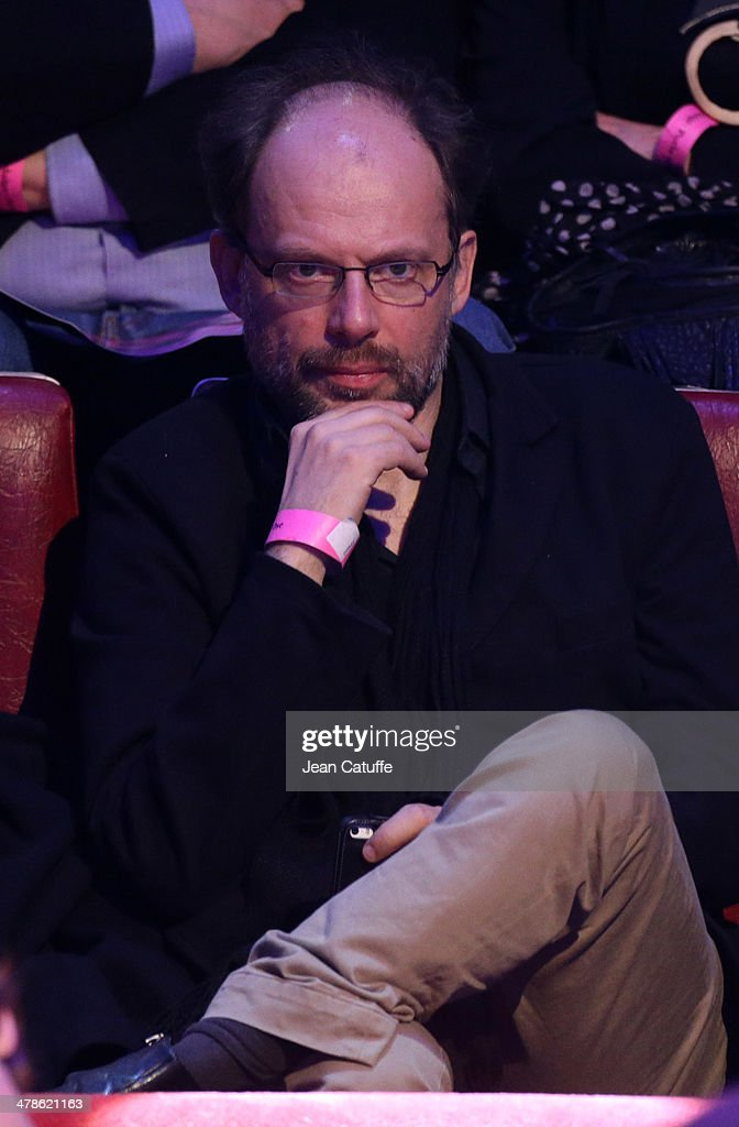 Actor Denis Podalydes attends the last big meeting of Paris socialist mayoral candidate Anne Hidalgo before the elections at Cirque d'Hiver on March 13, 2014 in Paris, France. Municipal elections will take place on March 23 and 30 in Paris.