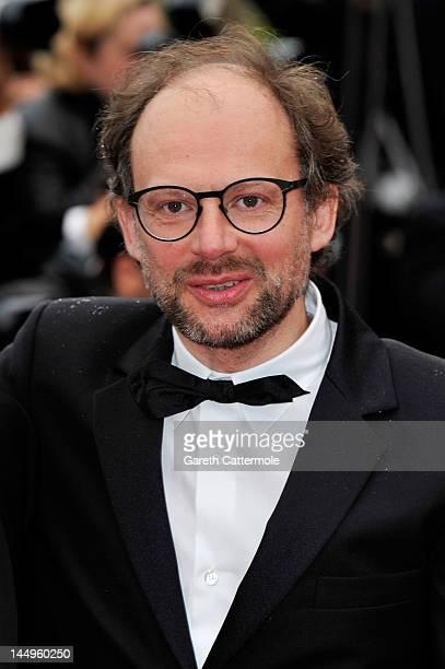 Actor Denis Podalydes attends the 'Vous N'avez Encore Rien Vu' premiere during the 65th Annual Cannes Film Festival at Palais des Festivals on May 21...