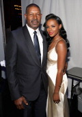 Actor Dennis Haysbert and actress Tika Sumpter attends the 45th NAACP Image Awards presented by TV One at Pasadena Civic Auditorium on February 22...