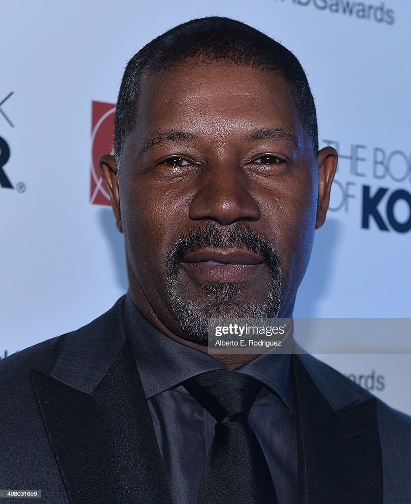 Actor <a gi-track='captionPersonalityLinkClicked' href=/galleries/search?phrase=Dennis+Haysbert&family=editorial&specificpeople=212993 ng-click='$event.stopPropagation()'>Dennis Haysbert</a> arrives to the 18th Annual Art Directors Guild Exellence In Production Design Awards at The Beverly Hilton Hotel on February 8, 2014 in Beverly Hills, California.
