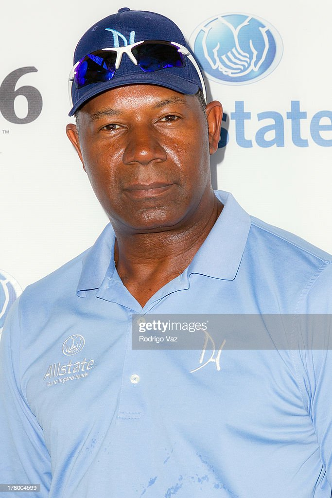 Actor <a gi-track='captionPersonalityLinkClicked' href=/galleries/search?phrase=Dennis+Haysbert&family=editorial&specificpeople=212993 ng-click='$event.stopPropagation()'>Dennis Haysbert</a> attends the 2nd Annual <a gi-track='captionPersonalityLinkClicked' href=/galleries/search?phrase=Dennis+Haysbert&family=editorial&specificpeople=212993 ng-click='$event.stopPropagation()'>Dennis Haysbert</a> Humanitarian Foundation Celebrity Golf Classic at Lakeside Golf Club on August 26, 2013 in Burbank, California.