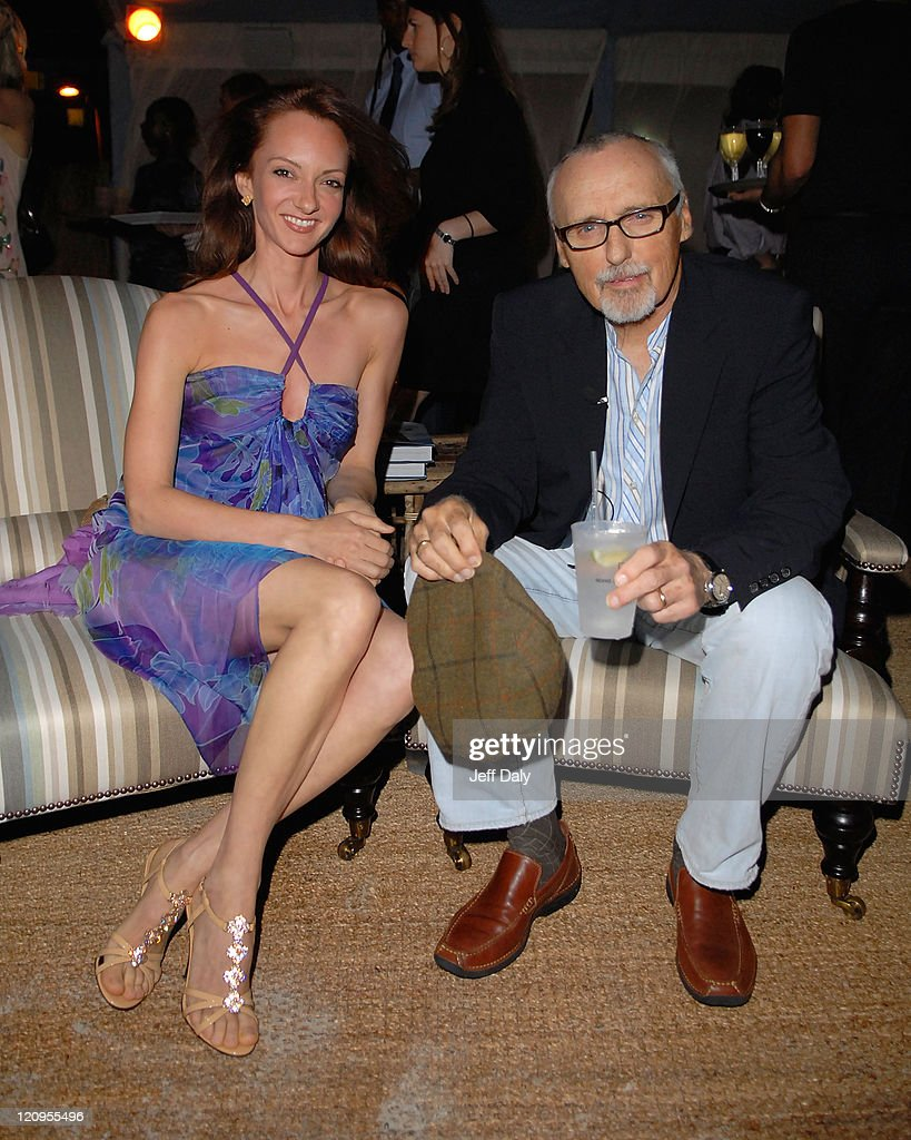 Actor Dennis Hopper and wife Victoria attend the Grand Classics event at the Soho Beach Lounge on December 7 2007 in Miami Beach Florida
