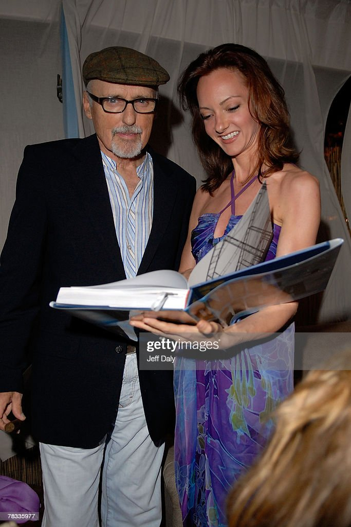 Actor Dennis Hopper and Wife Victoria attend the Grand Classics event at the Soho Beach Lounge on December 07 2007 in Miami BeachFlorida