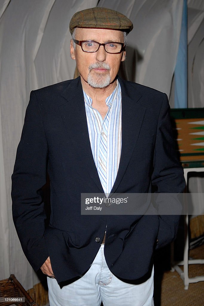 Actor Dennis Hopper attends the Grand Classics event hosted by himself and wife Victoria at the Soho Beach Lounge on December 7 2007 in Miami Beach...