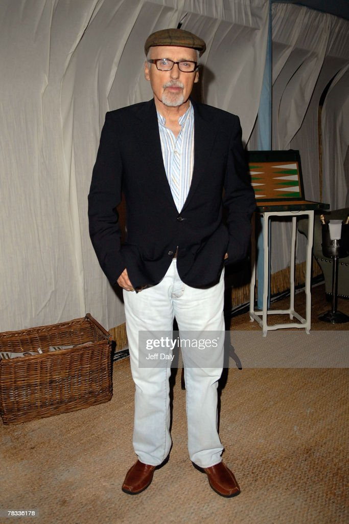 Actor Dennis Hopper attends the Grand Classics event hosted by himself and Wife Victoria at the Soho Beach Lounge on December 07 2007 in Miami...
