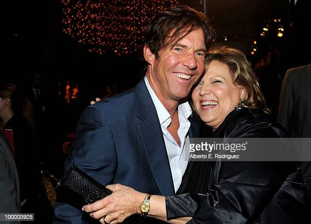 Actor Dennis Quaid and actress Brenda Vaccaro arrive at the Los Angeles premiere of HBO Films' 'The Special Relationship' at the DGA Theater on May...