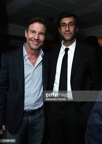 Actor Dennis Quaid and director Ramin Bahrani attend the Grey Goose Vodka predrinks party for 'At Any Price' at Soho House Toronto on September 9...