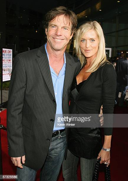 Actor Dennis Quaid and Kimberly Buffington arrive at the premiere of Universal Picture's 'American Dreamz' at the Cinerama Dome Theater on April 11...
