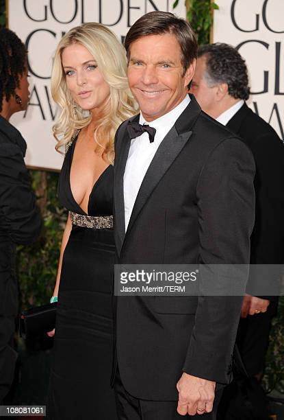 Actor Dennis Quaid and wife Kimberly Quaid arrives at the 68th Annual Golden Globe Awards held at The Beverly Hilton hotel on January 16 2011 in...