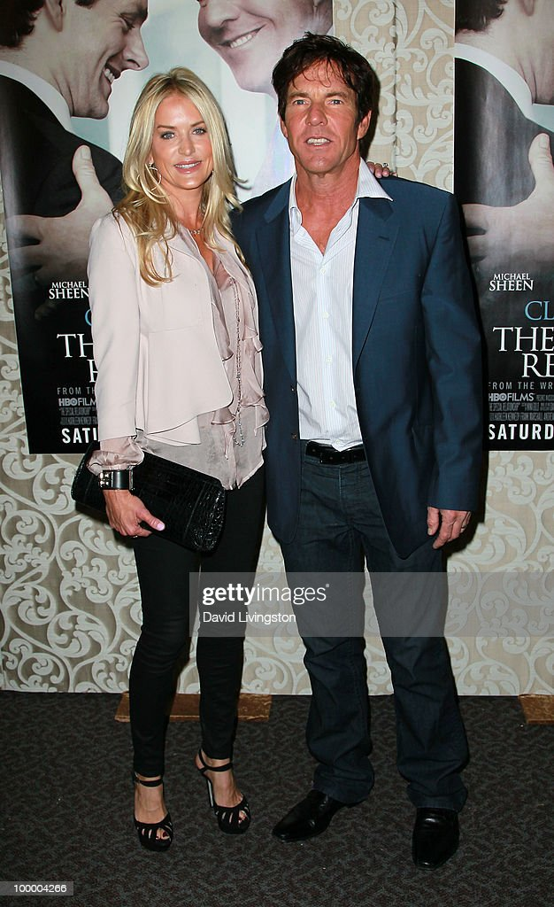Actor Dennis Quaid (R) and wife Kimberly Quaid attend the premiere of HBO Films 'The Special Relationship' at the Directors Guild of America on May 19, 2010 in Los Angeles, California.