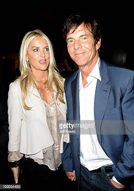Actor Dennis Quaid and wife Kimberly Quaid attens the HBO premiere of 'The Special Relationship' after party held at Directors Guild Of America on...