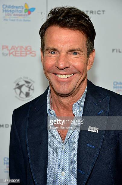Actor Dennis Quaid arrives at the special Children's Hospital Los Angeles' Benefit screening of 'Playing For Keeps' at ArcLight Hollywood on November...