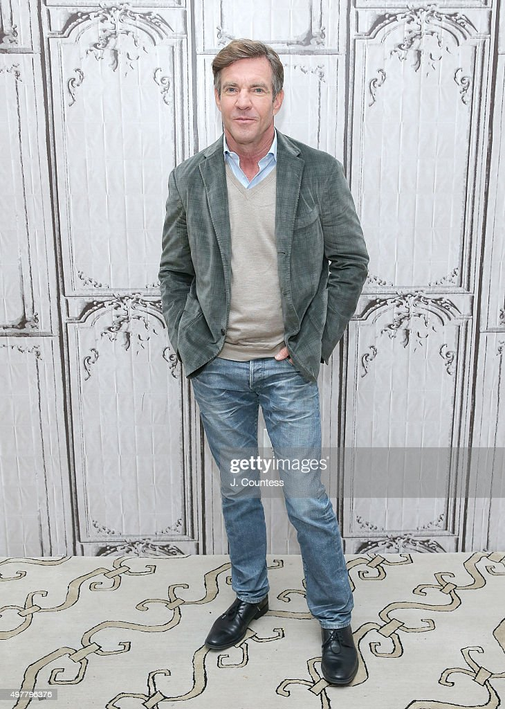 Actor <a gi-track='captionPersonalityLinkClicked' href=/galleries/search?phrase=Dennis+Quaid&family=editorial&specificpeople=201916 ng-click='$event.stopPropagation()'>Dennis Quaid</a> attends AOL BUILD presents: 'The Art of More' at AOL Studios In New York on November 18, 2015 in New York City.
