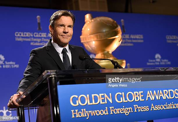 Actor Dennis Quaid attends the 73rd Annual Golden Globe Awards nominations announcement at The Beverly Hilton Hotel on December 10 2015 in Beverly...