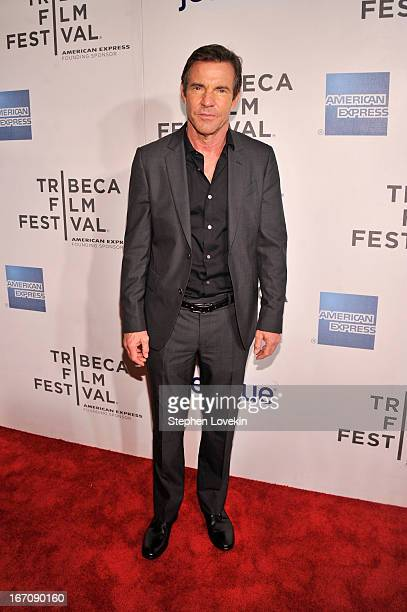 Actor Dennis Quaid attends the 'At Any Price' New York premiere during the 2013 Tribeca Film Festival on April 19 2013 in New York City
